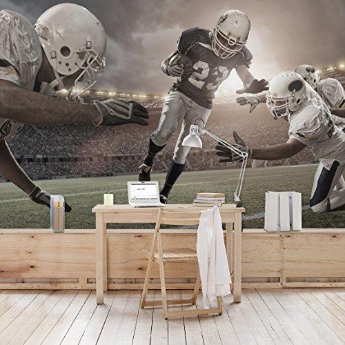 Apalis Kindertapeten Vliestapeten Tackling Fototapete Breit | Vlies Tapete Wandtapete Wandbild Foto 3D Fototapete für Schlafzimmer Wohnzimmer Küche | grau, 95026