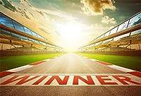 新しい7x5ftインフィニティレースアスファルト道路、勝者の言葉の背景レーシングトラックスタートライン写真の背景速度自動車フォーミュラ1モーターカーモータースポーツチャンピオンスポーツ競技