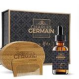 Kit barbe par Charles Germain Cosmetics, soins et entretien de la barbe, brosse à...