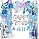 HAFTSS アナ雪 誕生日 飾り付け 女の子 プリンセス 誕生日 バルーン 誕生日 風船 バースデーバルーン ハッピー バースデー 飾り お祝い 子供の日 イベント 飾りセット