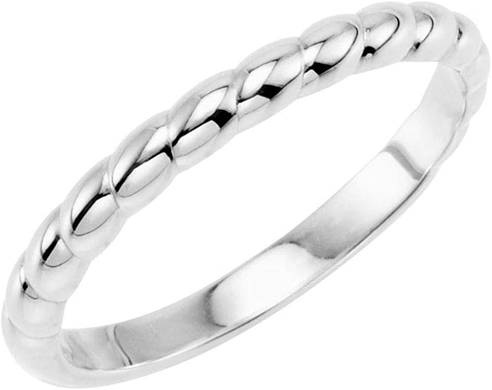 Stackable Wedding Anniversary Ring Band (Width = 2.5mm)