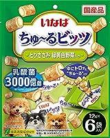 (まとめ買い)いなばペットフード いなば ちゅ~るビッツ とりささみ 緑黄色野菜入り 12g×6袋 犬用おやつ 【×8】
