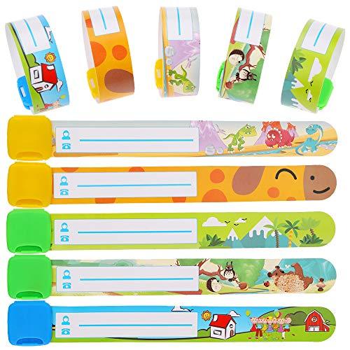 Faburo 10pcs Child Safety Wristband Waterproof Safety ID Bracelet
