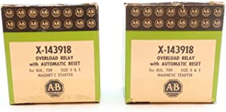 LOT of 2 ALLEN BRADLEY X-143918 Automatic Reset Magnetic Starter Overload Relay