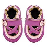 Momo Baby Girls Soft Sole Leather Shoes First Walker Toddler Crib Booties Slippers 12 Months