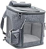 Mochila para Mascotas Extra Grande Mochila para Perros de 20 kg Bolsa de Transporte Transpirable para Verano Mochila para Gato Plegable