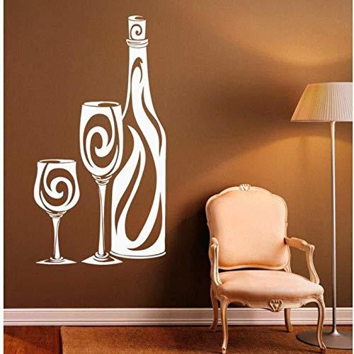 Adesivi murali modello bottiglia di vino decalcomania della parete soggiorno TV parete camera da letto cucina ufficio decorazione murale vinile di alta qualità 34 cm X57 cm