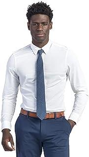 Men's Commuter Athletic Slim Fit Long Sleeve Dress Shirt,...