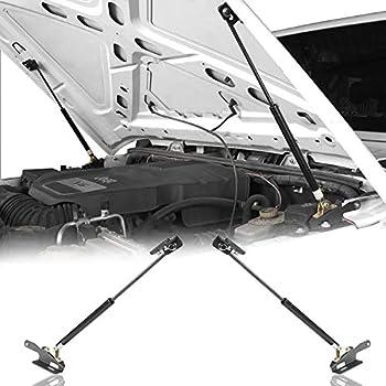 Hooke Road Wrangler JK Hood Lift Support Struts Assist Kit Compatible with Jeep Wrangler JK & Unlimited 2011-2018 - Pair