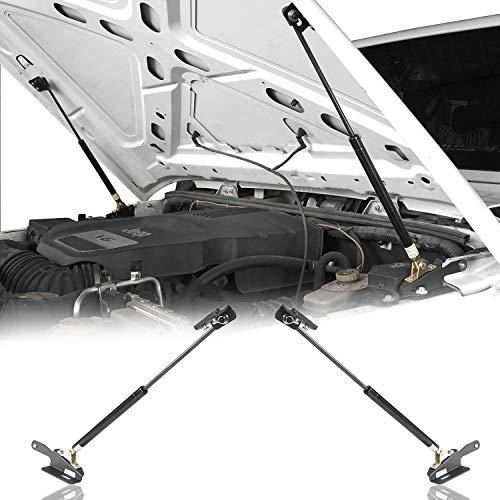 Hooke Road 2Pcs Front Hood Lift Support Kit for 2011-2018 Jeep Wrangler JK & Unlimited