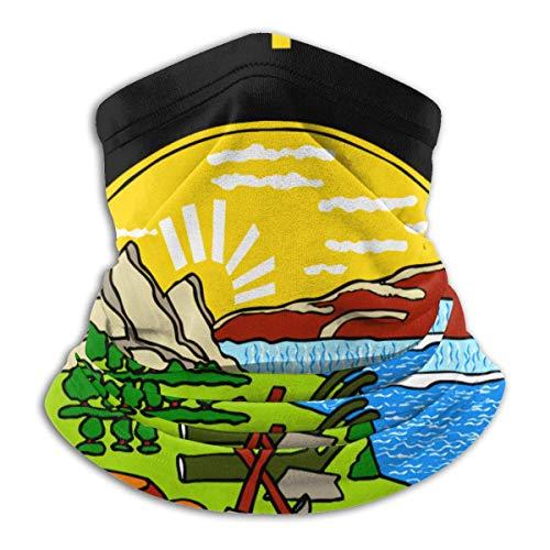 Anqi-Shop Amérique Montana Drapeau Polaire Cou Warmer Guêtre Masque Visage En Plein Air Cou Guêtre Respirant Bandana Cagoules