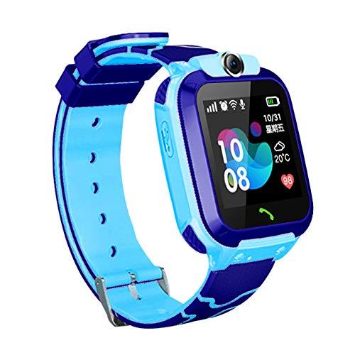 Mioloe Orologio Smart Phone per bambini 3-12 anni Ragazze GPS LBS Tracker Touch Screen SOS Gioco fotocamera anti-perso Digitale da polso Sim Bambini Festa regalo di compleanno