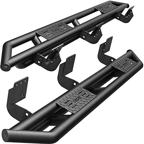 "oEdRo 6"" Side Steps Compatible with 2019-2021 Dodge Ram 1500 Crew Cab (Excluding 19-20 RAM 1500 Classic), Upgraded Running Boards Textured Black Heavy Duty Nerf Bars, Unique Multi-Layer Slip-Proof"