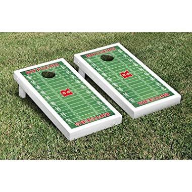 Victory Tailgate Rutgers Scarlet Knights Regulation Cornhole Game Set Football Field Version