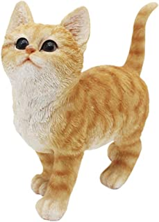 CITONG Cat Garden Cute Statue Decor Orange Good for Outdoor Indoor Home or Office
