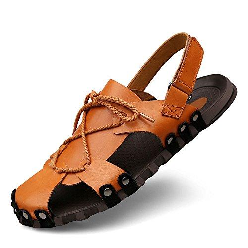 WangQM Sandalias para Hombres Zapatillas de Playa de Gran tamaño for Hombres Zapatillas, Tanto Sandalias como Zapatillas, aptas for Exteriores Unas Zapatillas de baño para Hombres