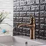ZJN-JN Grifería de Lavabo Grifos de baño del grifo del lavabo de cobre retro magia de la lámpara del lavabo del agujero Grifo Lavabo sobre encimera Lavabo grifo de cobre caliente y fría Accesorios par