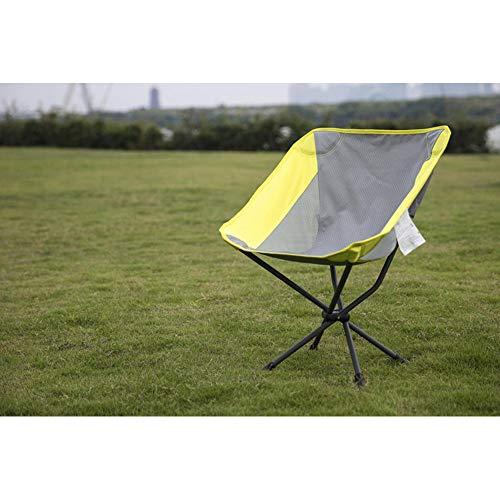 Jianghuayunchuanri Silla Plegable al Aire Libre Silla de Camping de Silla Plegable Liviana portátil con Bolsa de Transporte para Camping Garden (Color : Amarillo)