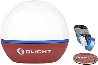 OLIGHT Obulb Lámpara de Noche Luz Nocturna Control Táctil Solo 55g con Blanco Cálido y Rojo Máx 55 Lúmenes Resisdente al Caída, IPX7 Lámpara de Atmósfera Recargable Magnética Battería Incorporada