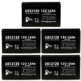 5-Pack UB12120 Universal Sealed Lead Acid Battery (12V, 12Ah, F1 Terminal, AGM,...