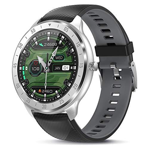 TagoBee Smartwatch Reloj Inteligente Hombre Mujer IP67 Pulsera Actividad Con Monitor de Sueño Pulsómetros,1.3inch Pantalla Táctil Completa Reloj deportivo hombre Con Podómetro Caloría para Android iOS