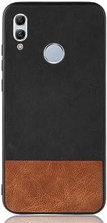 Huawei Honor 10 Lite Retro Velvet Cloth Hybrid Case cover - Black & Brown.
