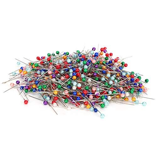Pin de perla de costura de color, 700 piezas Pin de perla de costura de color Pin de cabeza redonda Pin de máquina de coser Aguja de posicionamiento Pin de ramillete para coser el hogar Trabajo de par