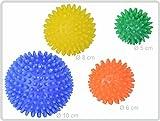 Teckmedi Igelball Igel-Ball Noppenball 4er (blau - gelb - orange - grün) - Massageball