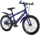 Sooiy Bicicletas niños, Bicicletas de montaña, Bicicletas de Estudiantes, Hard Tail Bicicleta, 20/22 Pulgadas, Bicicletas de una Sola Velocidad, Frenos de Disco de la Bici,20inch