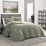 Eddie Bauer Home | Troutdale Collection | Bedding Set-1% Cotton Light-Weight Quilt Bedspread, Pre-Washed for Extra Comfort, Full, Green