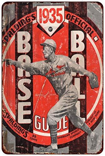 Yilooom 1935 Dizzy Dean Spalding Baseball Vintage Reproduction Metal Sign 8 X 12