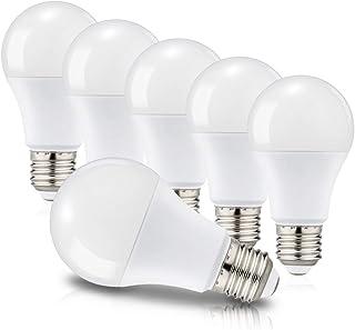 Lot de 6 Ampoules LED E27 A60 Equivalent à incandescence 60W, Culot Edison à vis, 3000K Blanc chaud, 820 Lm, 220-240V, No...
