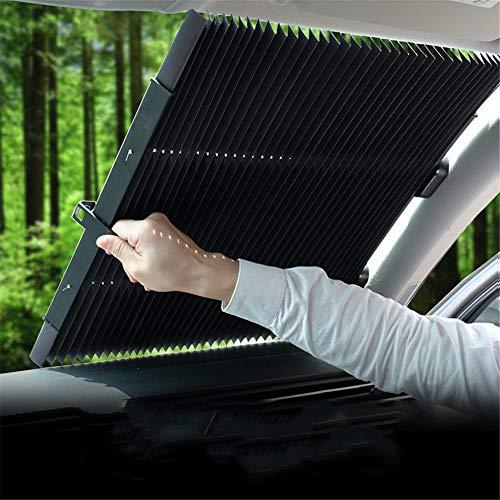 ZMXZMQ Autovoorruit, zonnescherm, inklapbare parasol, reflecteert en beschermt je auto tegen UV-zon en hitte.
