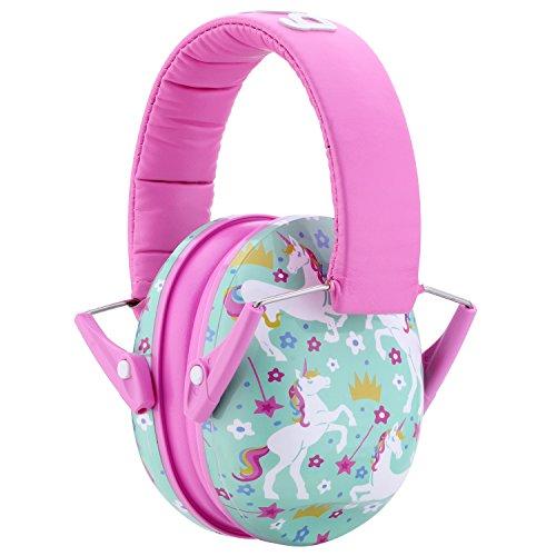 Snug Kids Earmuffs / Hearing Protectors – Adjustable Headband Ear Defenders For Children and Adults (Unicorn)