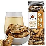 Plant Gift 100% Roasted Burdock Root Tea,( El té de raíz de bardana ) Medicinal Herb, Dried Bulk Herbs, Gold burdock Tea, Medical use organic and healthy Chinese flavor 100G/3.52oz