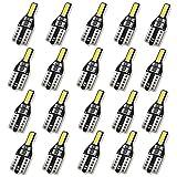 tellaLuna 20 bombillas LED T10 501 194 W5W 7020SMD para coche, sin errores, color blanco