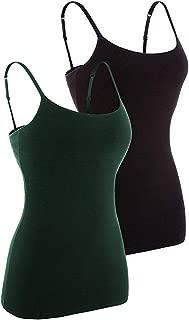 maysoul Women Basic Solid Camisole Shelf Bra Tank Top Adjustable Spaghetti Camis