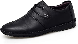2019 Mens New Lace-up Flats Men's Casual Comfortable Simple Fashion OxfordPure Color Lace Up British Style Formal Shoes