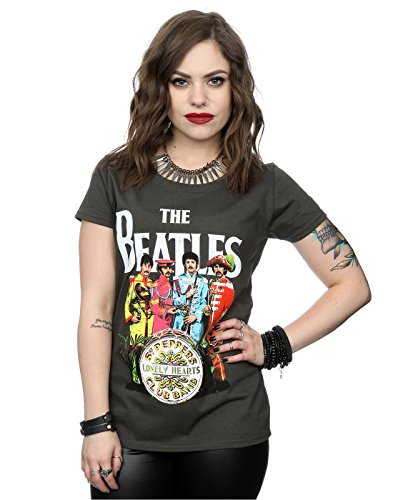 The Beatles mujer Sgt Pepper Camiseta Medium Grafito luz