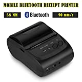 Bluetooth Wireless 58mm Thermodrucker Schwarz