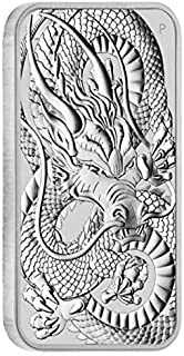 2021 AU Silver Australian Dragon Dollar Coin $1 Brilliant Uncirculated Dollar Uncirculated Mint