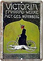 ビクトリア自転車ヴィンテージティンサイン装飾ヴィンテージ壁金属プラークカフェバー映画ギフト結婚式誕生日警告のためのレトロな鉄の絵