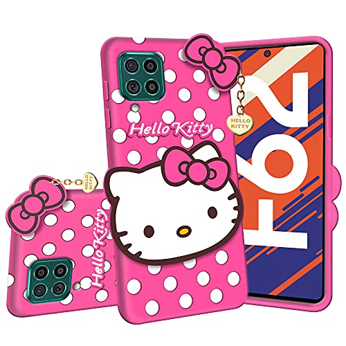 Dgeot Hello Kitty Back Case Cover Compatible with Samsung Galaxy M32 - 3D...