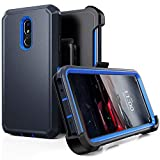 LG Stylo 5 Case, LG Stylo 5 Plus/LG Stylo 5V Case,Heavy Duty Hard Shockproof Protector Shield Case Cover with Belt Clip and Kickstand for LG Stylo 5 (Navy Blue)
