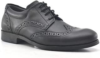 Titan Hakiki Deri Siyah Klasik Erkek Çocuk Ayakkabısı