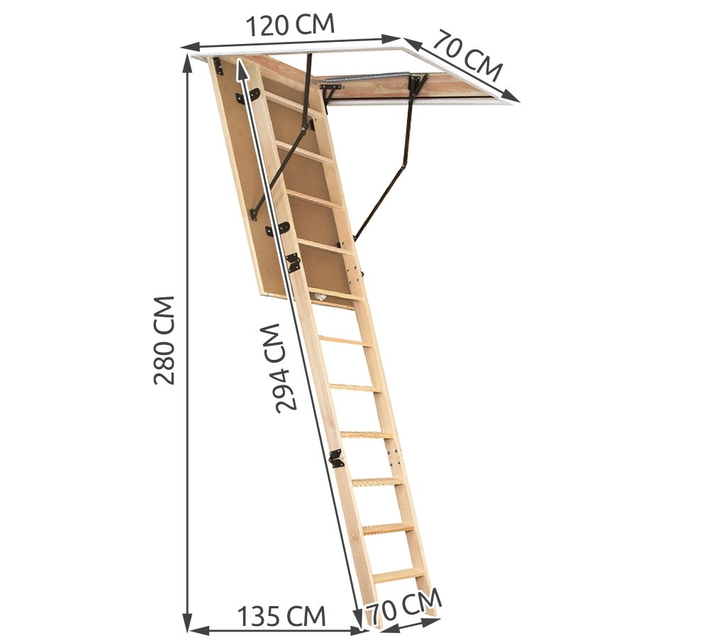 Omán suelo Escaleras de aislamiento térmico Escalera de ático Memoria Escaleras # 6380, 120/70/280cm: Amazon.es: Hogar
