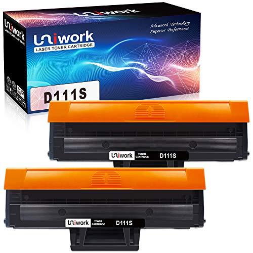 Uniwork D111S Kompatible Toner als Ersatz für Samsung MLT-D111S D111S Patronen für Samsung Xpress M2070W M2070 M2026 M2026W SL-M2070 SL-M2070W M2020 M2020W M2022 M2022W M2070F M2070FW, 2 Schwarz