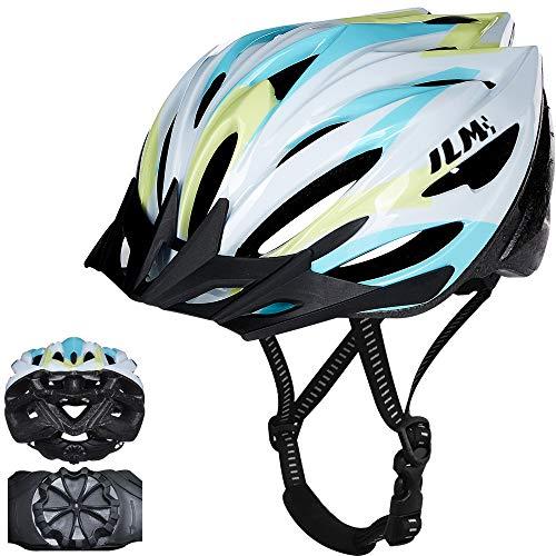 ILM Fahrradhelm für Damen, Herren, Jugendliche, Kinder, mit Schnellverschluss, leicht, Casco Anzüge, Radfahren, MTB, CPSC-zertifiziert (Eiscreme, L/XL)