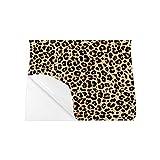 Cartel de pared de oficina Carteles de baño de leopardo manchado hermoso Para carteles de viaje divertidos de pared 20x16 pulgadas Impresión de arte de pared Decoración de sala de oficina en el hoga