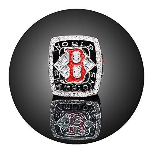 Europa und Amerika männliche Ringe, 2004 Boston Eishockey-Team-Meisterschaft-Replik-Ring, roter Sox-Fans-Legierungsring (mit Box)